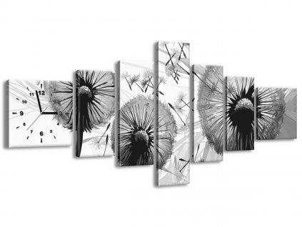 Órás falikép Szürke pitypangok 160x70cm  + Ajándék