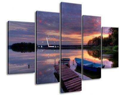 Órás falikép Gyönyörű tó 150x105cm  + Ajándék