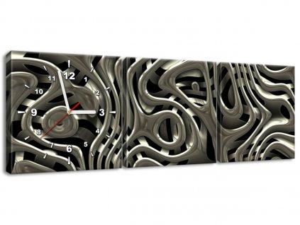 Órás falikép Érdekes ezüst 90x30cm  + Ajándék