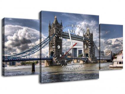 Órás falikép Híd a Temzén 80x40cm  + Ajándék