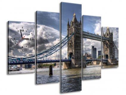 Órás falikép Híd a Temzén 150x105cm  + Ajándék