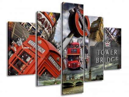 Órás falikép Absztrakt London 150x105cm  HD nyomtatás