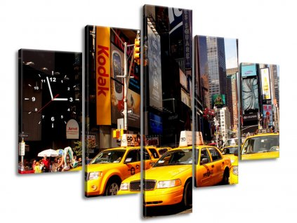 Órás falikép New York Taxi - Prayitno 150x105cm  HD nyomtatás