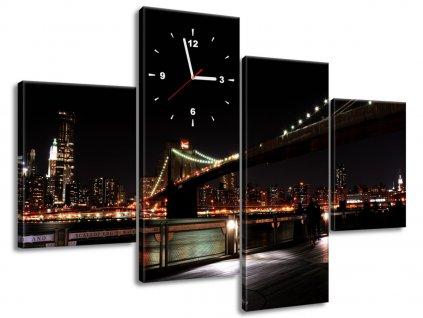 Órás falikép Brooklyn Bridge - Mith 120x80cm  + Ajándék