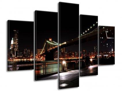 Órás falikép Brooklyn Bridge - Mith 150x105cm  + Ajándék