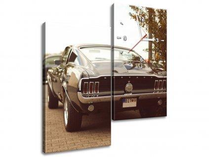 Órás falikép Ford Mustang - 55laney69 60x60cm  + Ajándék