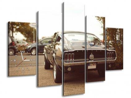 Órás falikép Ford Mustang - 55laney69 150x105cm  HD nyomtatás