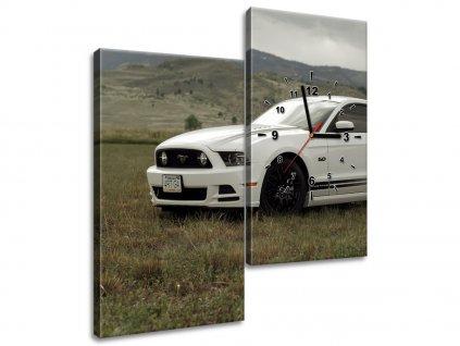 Órás falikép Mustang GT V8 - Brett Levin 60x60cm  + Ajándék