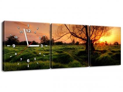 Órás falikép Esti táj 90x30cm  HD nyomtatás