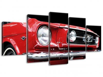 Órás falikép Red Mustang - Y 150x70cm  + Ajándék