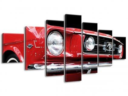 Órás falikép Red Mustang - Y 210x100cm  + Ajándék