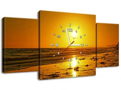 Órás falikép Sirály és a nap - Damian Gadal 80x40cm  + Ajándék