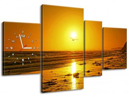 Órás falikép Sirály és a nap - Damian Gadal 120x80cm  HD nyomtatás