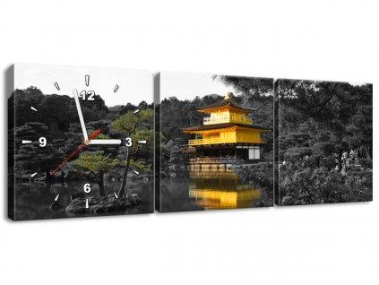 Órás falikép Ház és bonszaj - Mith Huang 90x30cm  + Ajándék