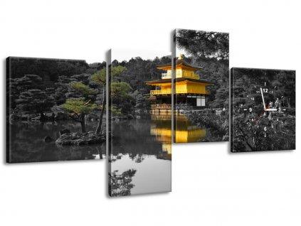 Órás falikép Ház és bonszaj - Mith Huang 140x70cm  + Ajándék