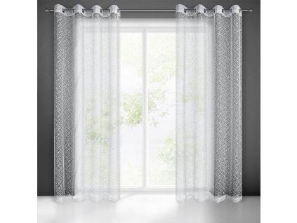 Készfüggöny AMANDA 140 x 250 cm - Karikákon  + Ajándék