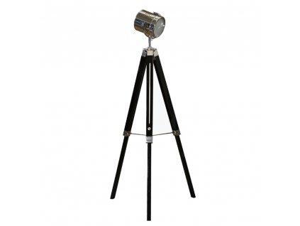Állólámpa fekete fa/fém, CINDA TIP 26 YF819-B  + Ajándék