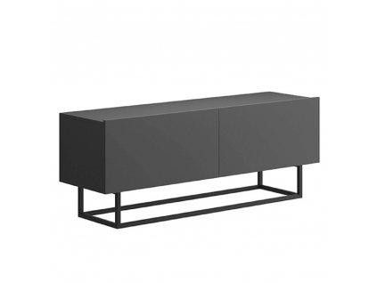RTV asztal lábazat nélkül, grafit, SPRING ERTV120