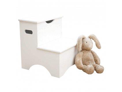 Gyereklépcsők tárolóval, fehér, HURLEY  + Ajándék