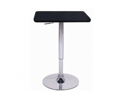 Magasság állítható bárasztal, fekete, FLORIAN  + Ajándék