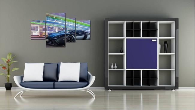 Obraz_s_hodinami_Lamborghini