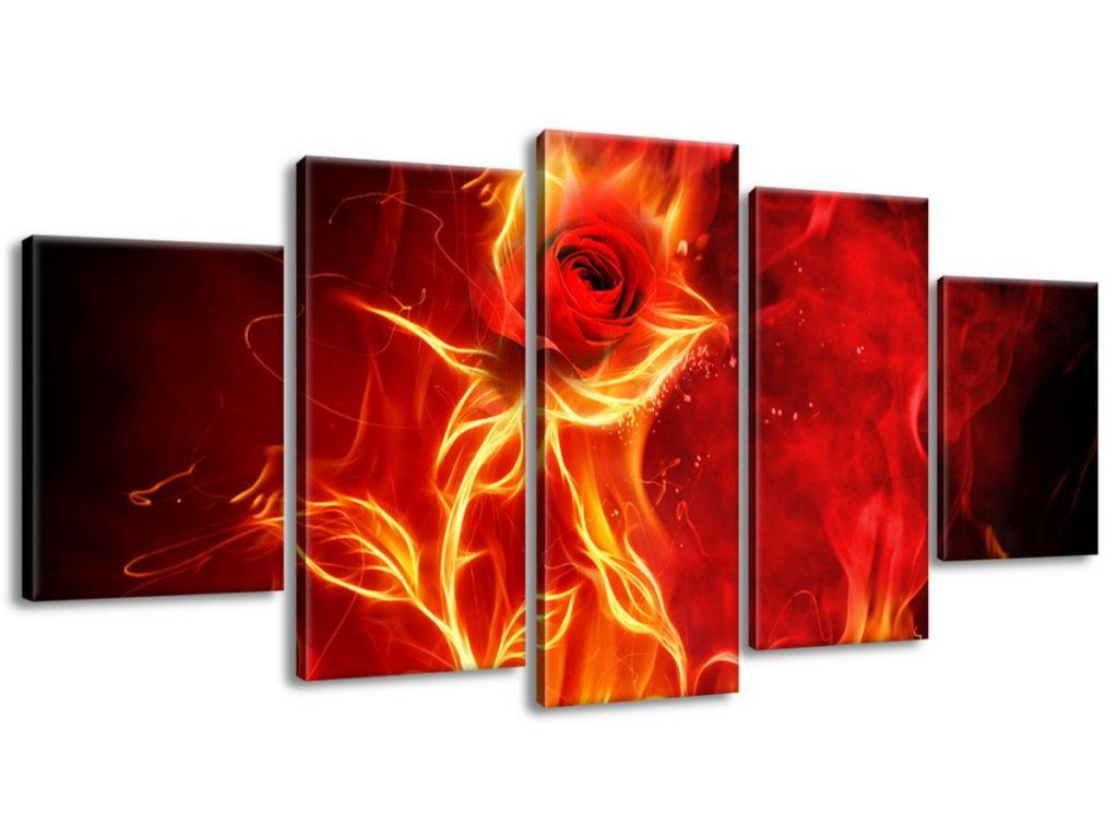 Obraz na plátne Ruža v ohni  Tlačený v HD
