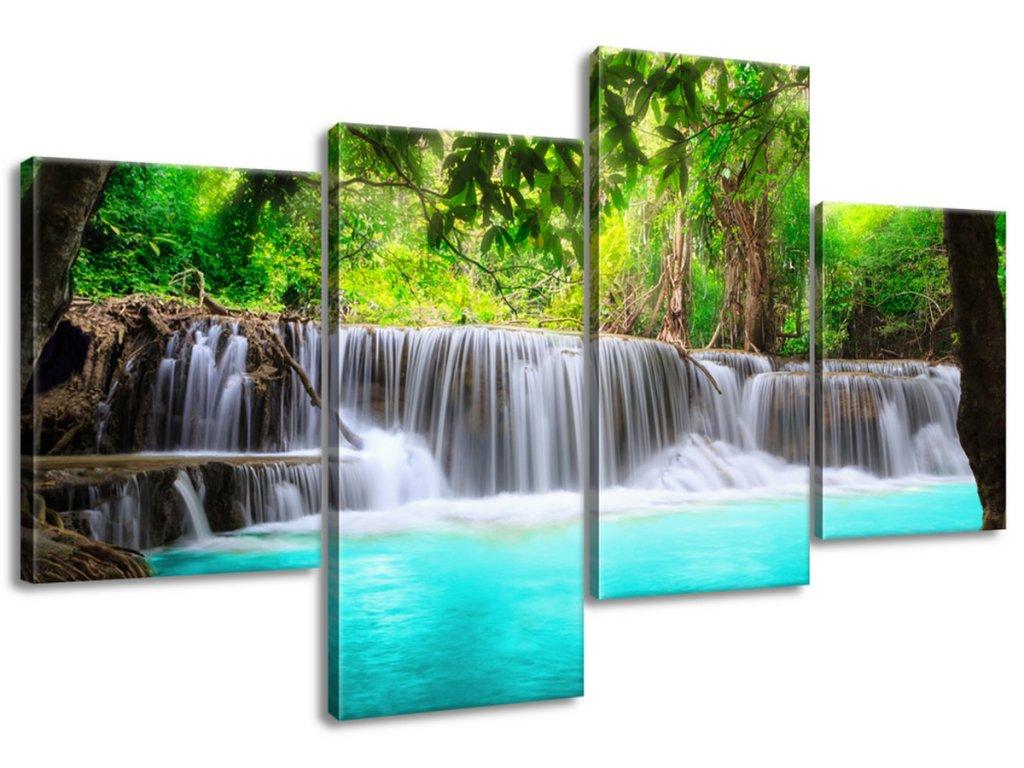 Obraz na plátne Nádherný vodopád v Thajsku  Tlačený v HD