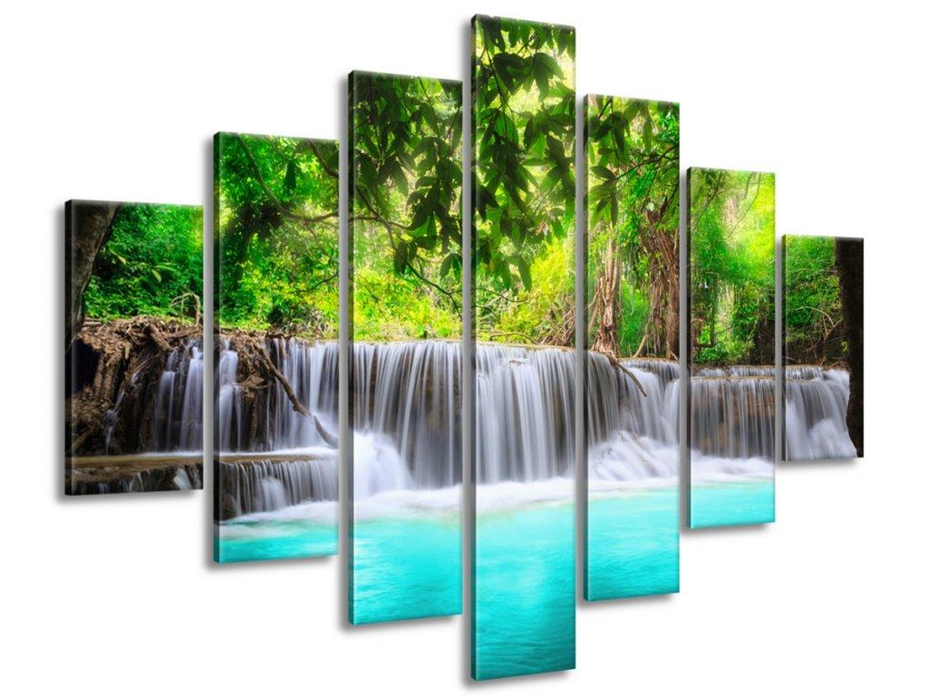 Obraz na plátne Nádherný vodopád v Thajsku 140x80cm  Tlačený v HD