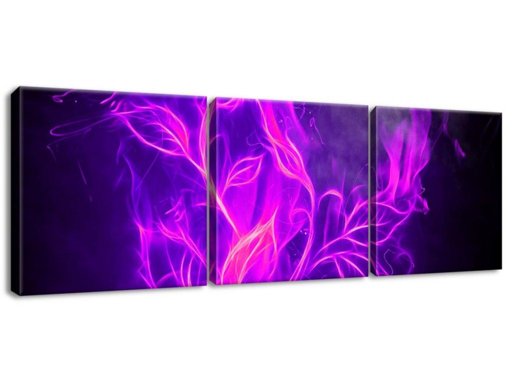 Obraz na plátne Ruža vo fialovom plameni  Tlačený v HD