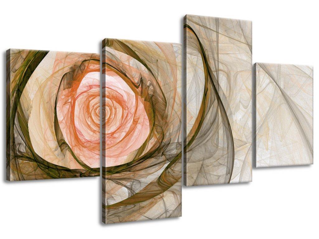 Obraz na plátne Nádherná ruža fraktál 100x70cm  Tlačený v HD