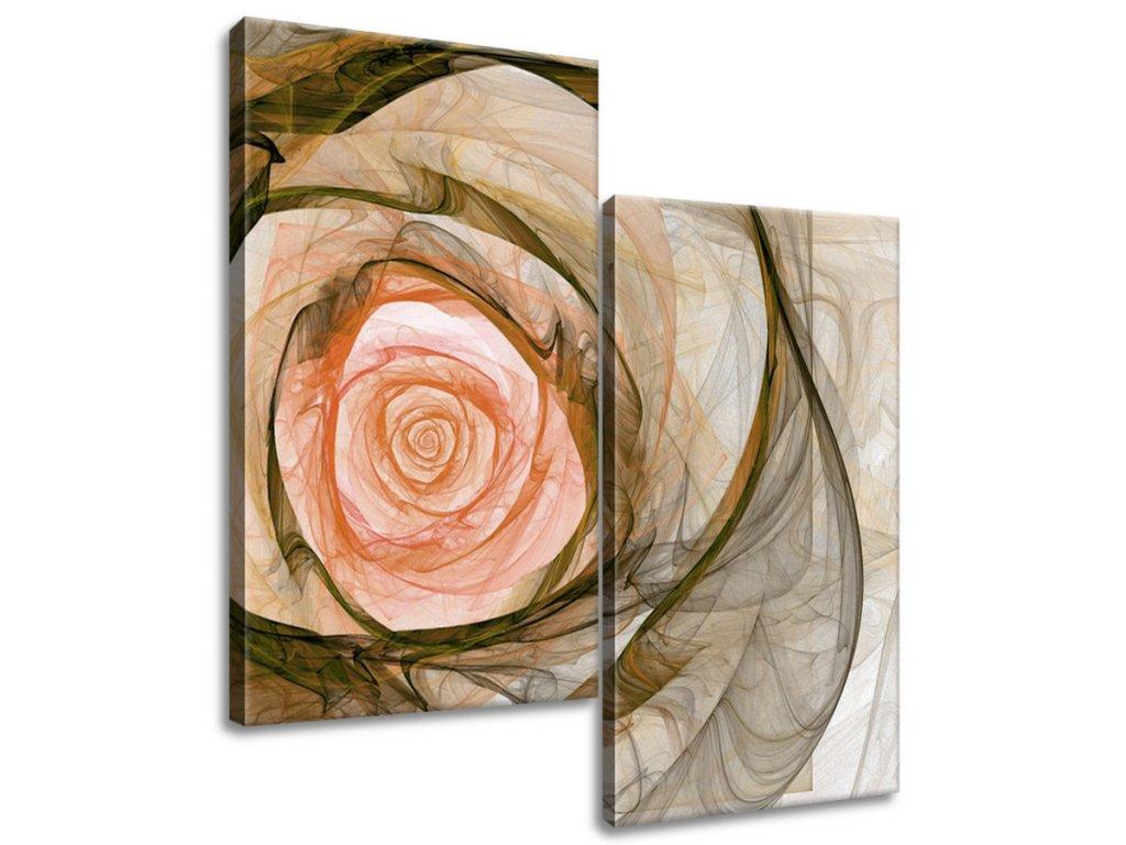 Obraz na plátne Nádherná ruža fraktál  Tlačený v HD