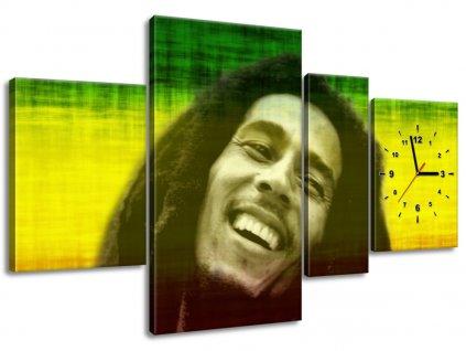 Obraz s hodinami Bob Marley 120x70cm  + Darček