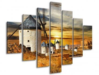 Obraz na plátne Veterné mlyny v Španielsku  Tlačený v HD