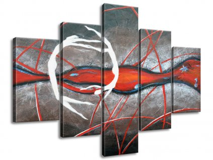Ručne maľovaný obraz Tajomný tanec postáv 150x105cm  + Darček