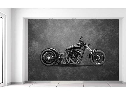 Fototapeta Motorka čierny chopper 200x135cm  + Darček