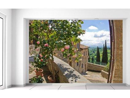 Fototapeta Ruže na balkóne  + Darček