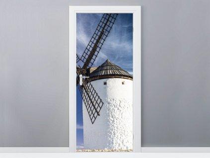 Samolepiaca fólia na dvere Krásny veterný mlyn 95x205cm  + Darček