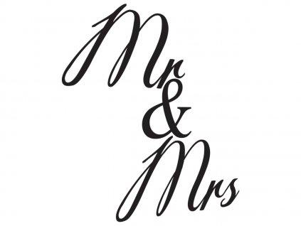 Nálepka na stenu Mr i Mrs  + Darček