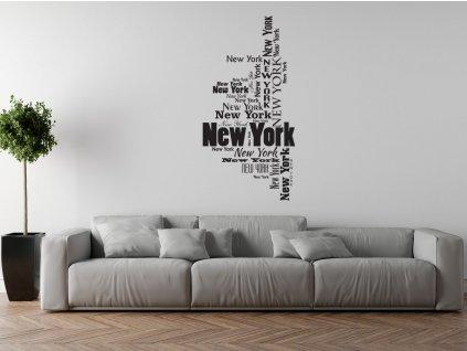 Nálepka na stenu New York  + Darček