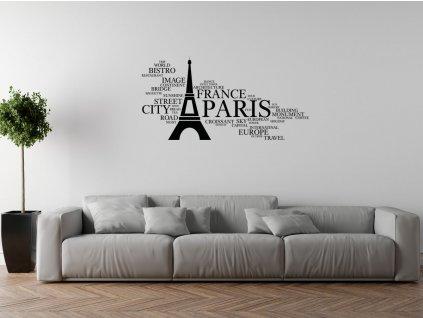 Nálepka na stenu Paris  + Darček