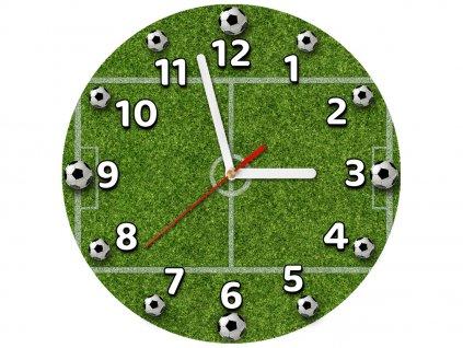 Detské hodiny Futbalové ihrisko 30x30cm  + Darček