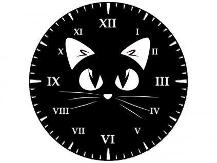 Detské hodiny Čierna mačička 30x30cm  + Darček