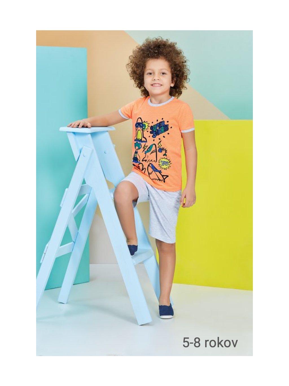Chlapčenské pyžamo - komplet ŽRALOK RP1213 5-8