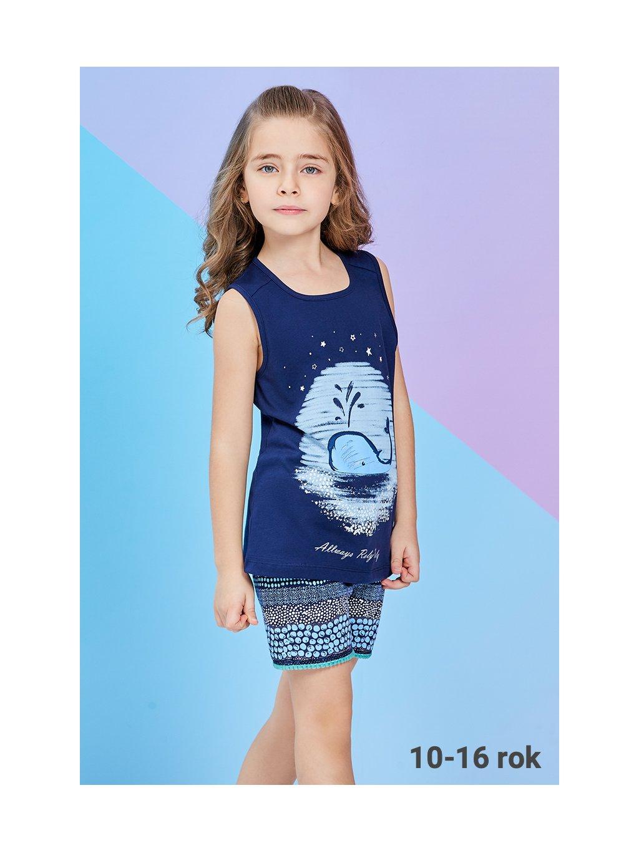 Dievčenske pyžamo s VEĽRYBOU RP2276 modré