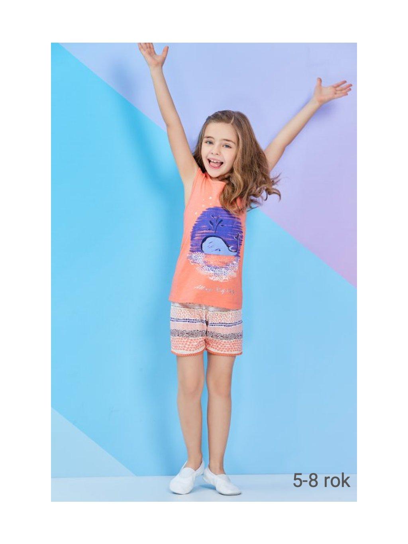 Dievčenské letné pyžamo VEĽRYBA RP1276 5-8rokov