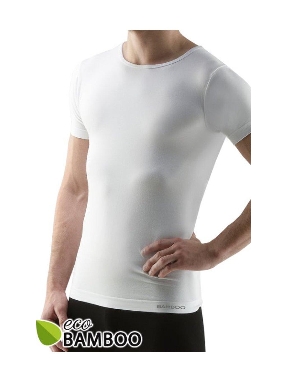 58006 Pánske aj DÁMSKE BAMBOO tričko S DR biele