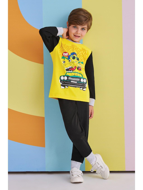 Chlapčenské pyžamo 1 až 4 roky RP1329 žlté