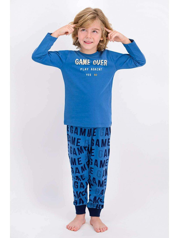 rolypoly baba ogul uzun kol pijama takim indigo pijama takimi rolypoly 2020 k 20164 25 B