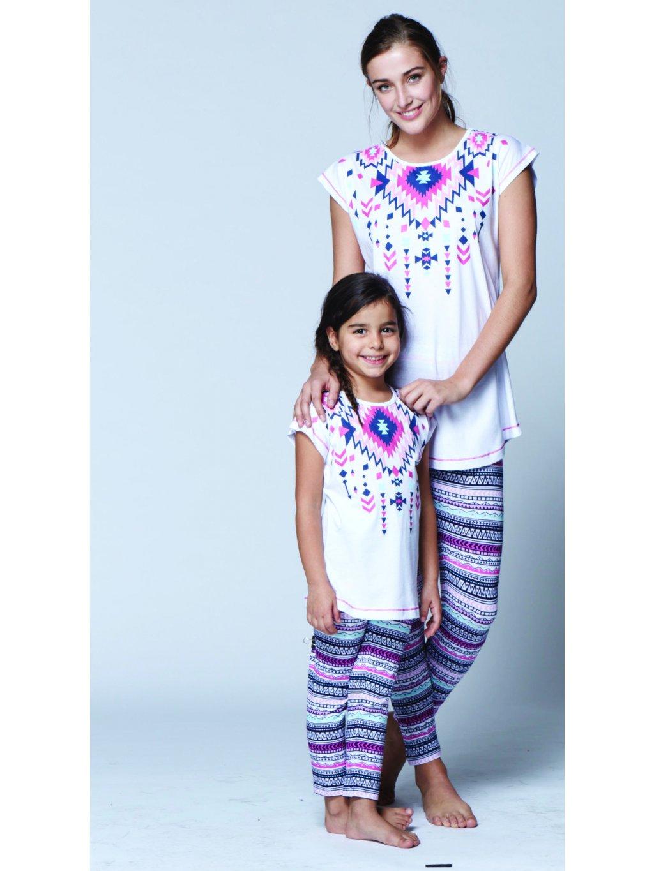 Dievčenské pyžamko, komplet INDIÁN 2858 biele