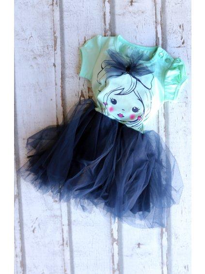 Detské šaty s nadýchanou sukňou BRREZE